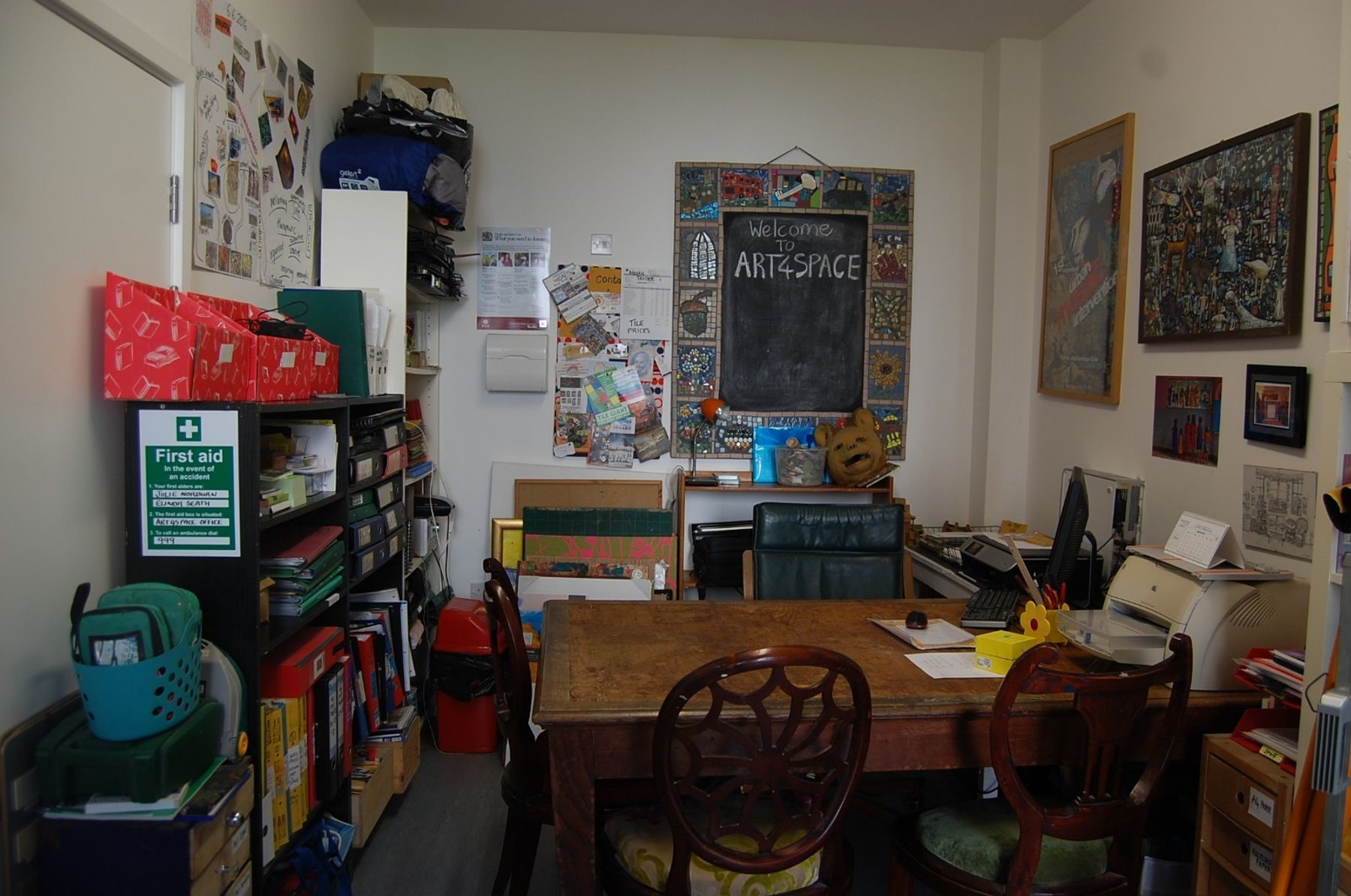 Office in a creative space