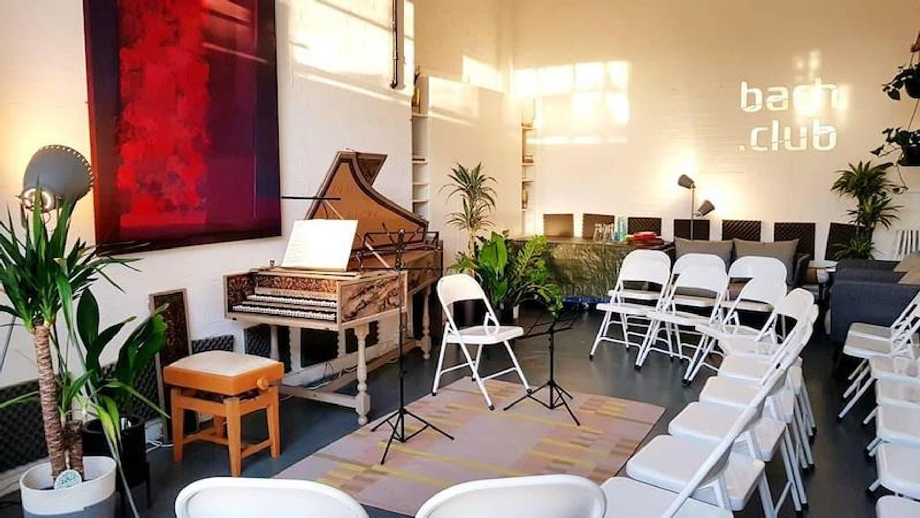 Bach Club | Studio with harpsichord & fortepiano