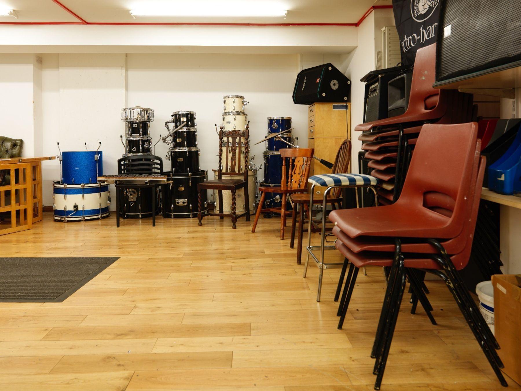 Folkies Music's spacious basement KILBURN