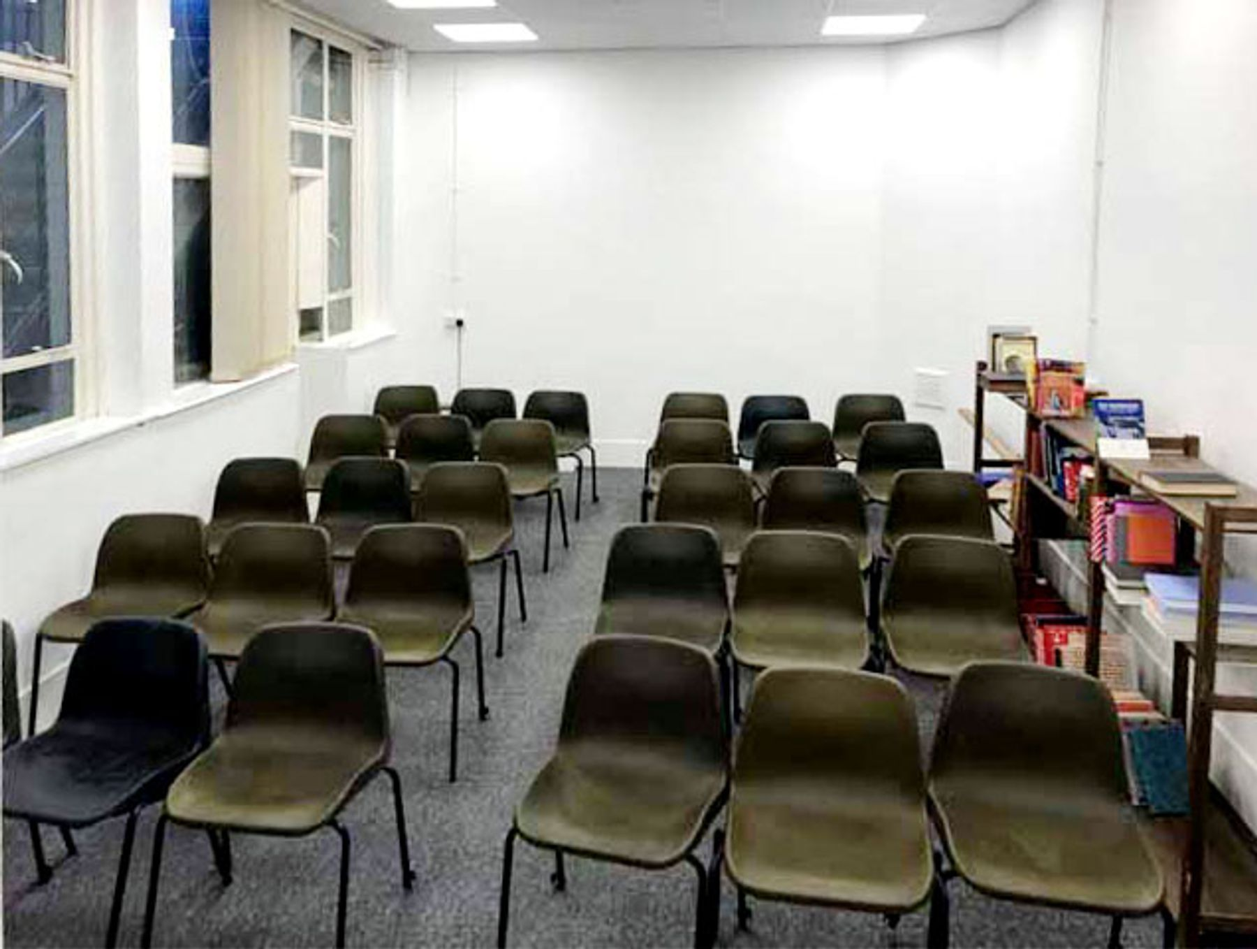 Small rehearsal room with natural light