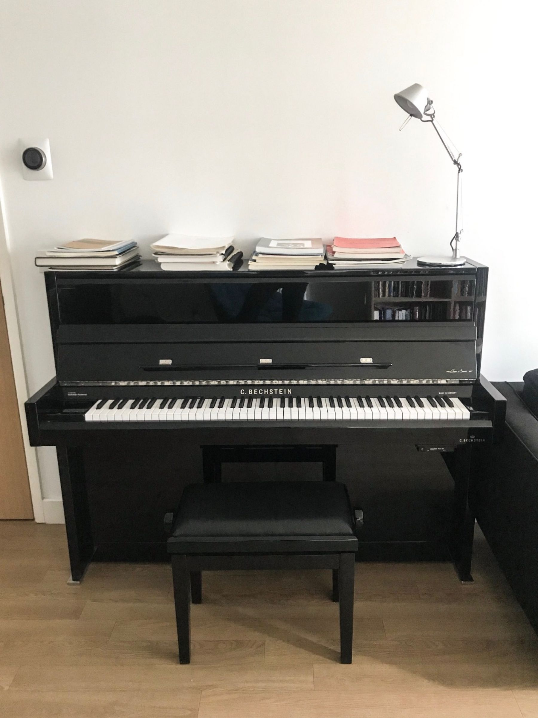 Room with Bechstein upright in Dalston