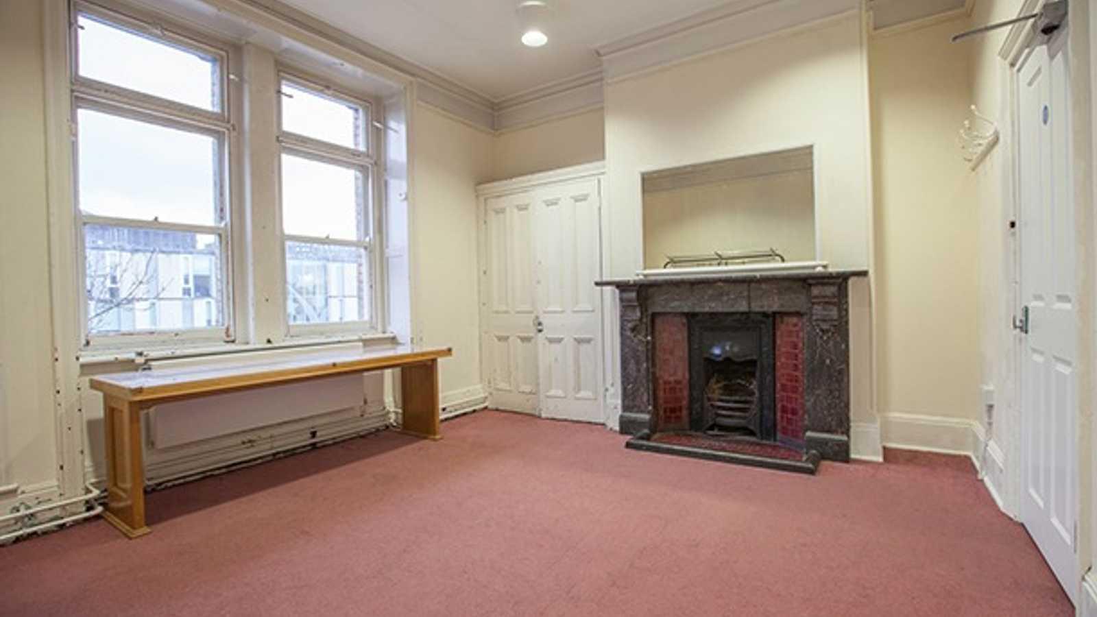 Carpet dressing room