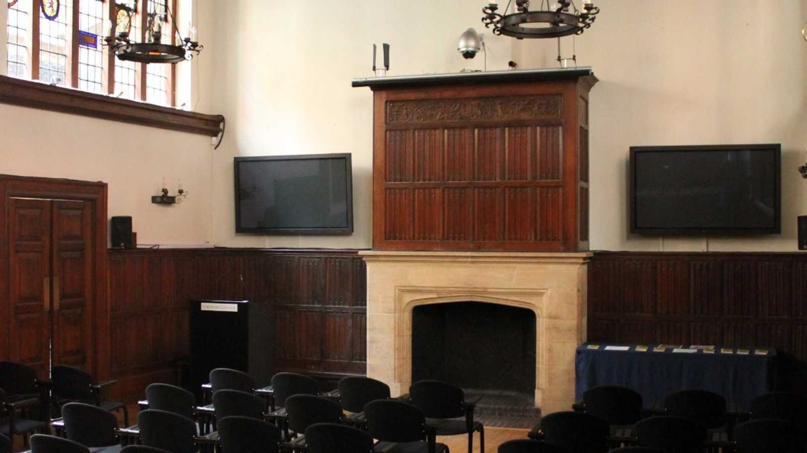 Tudor Hall with wood panelling