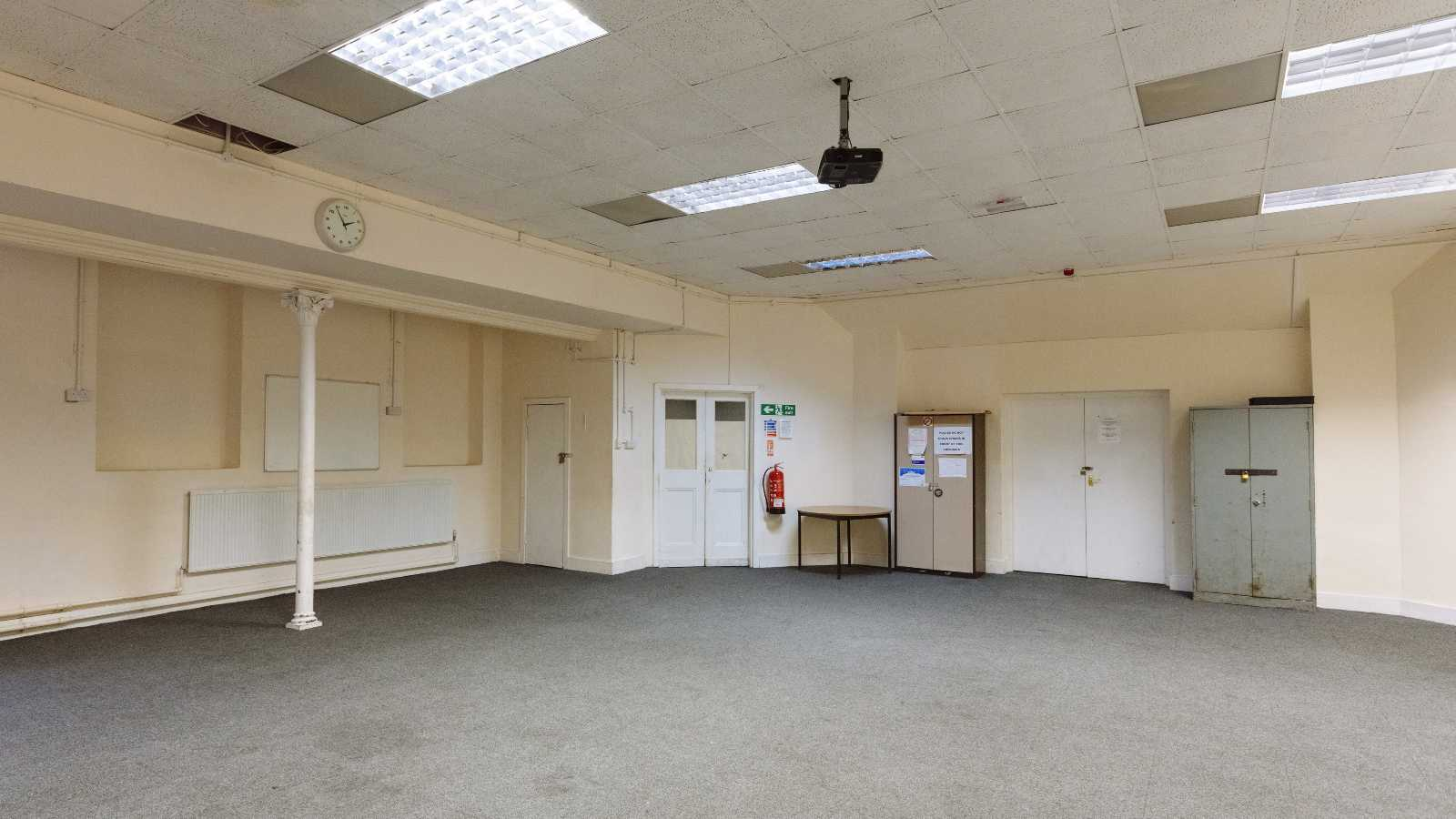 Old Church Room in Upton Park, East London (Carpeted Hall)
