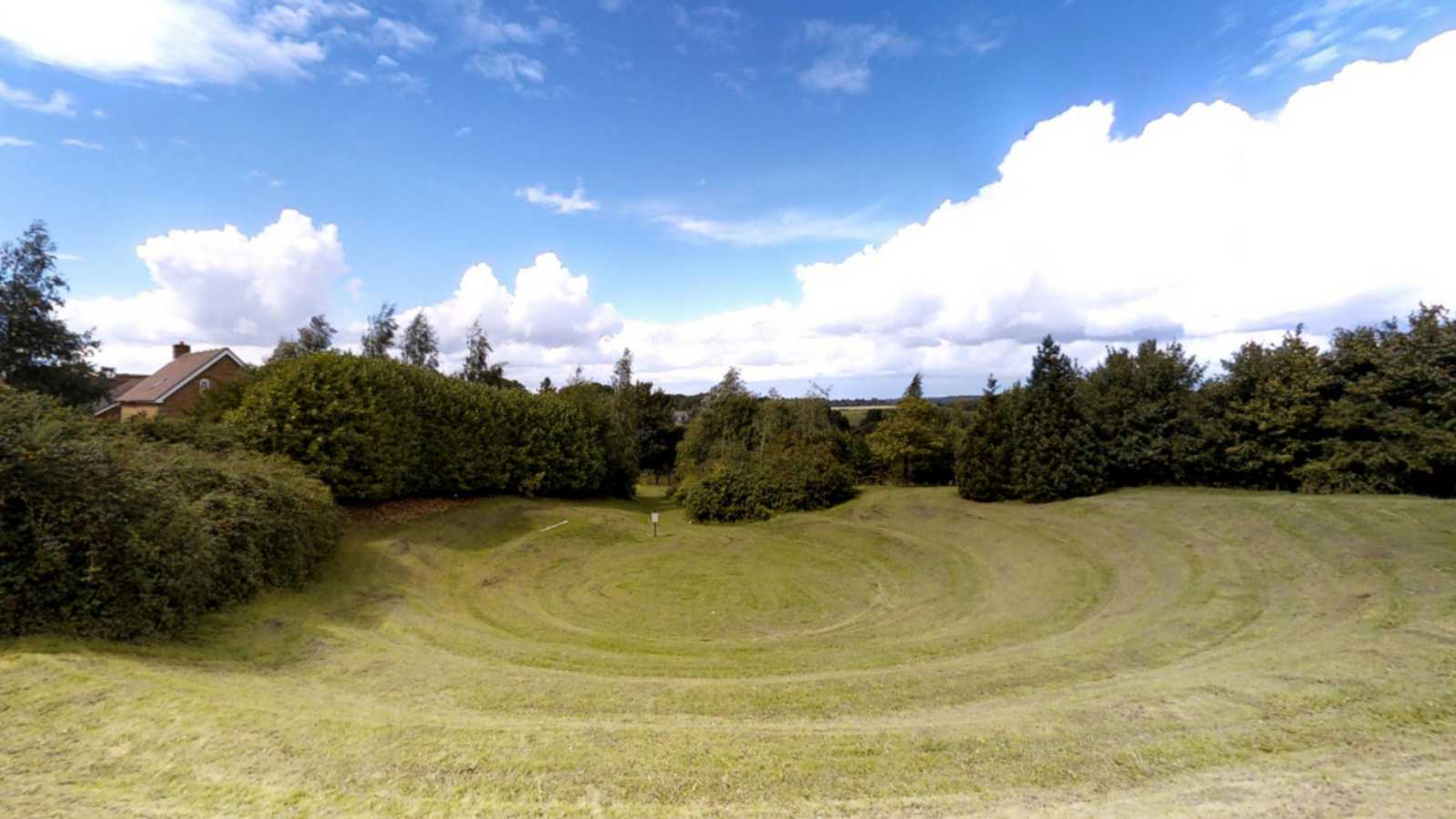 Outdoor grass ampitheatre