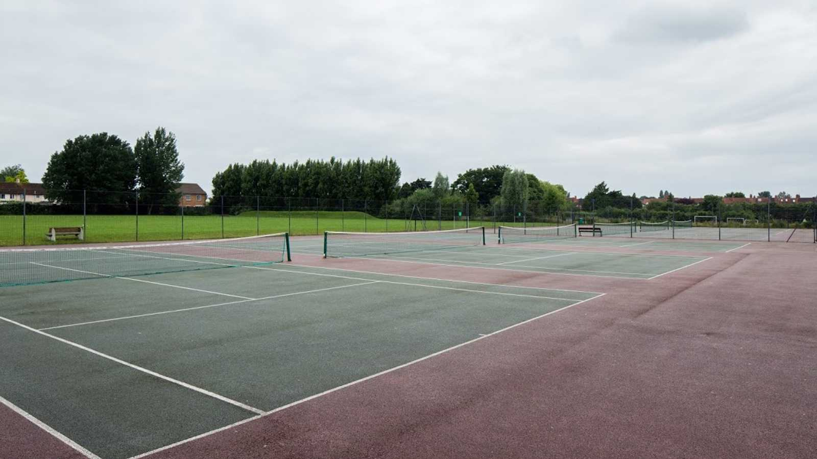 Six full size outdoor tennis courts