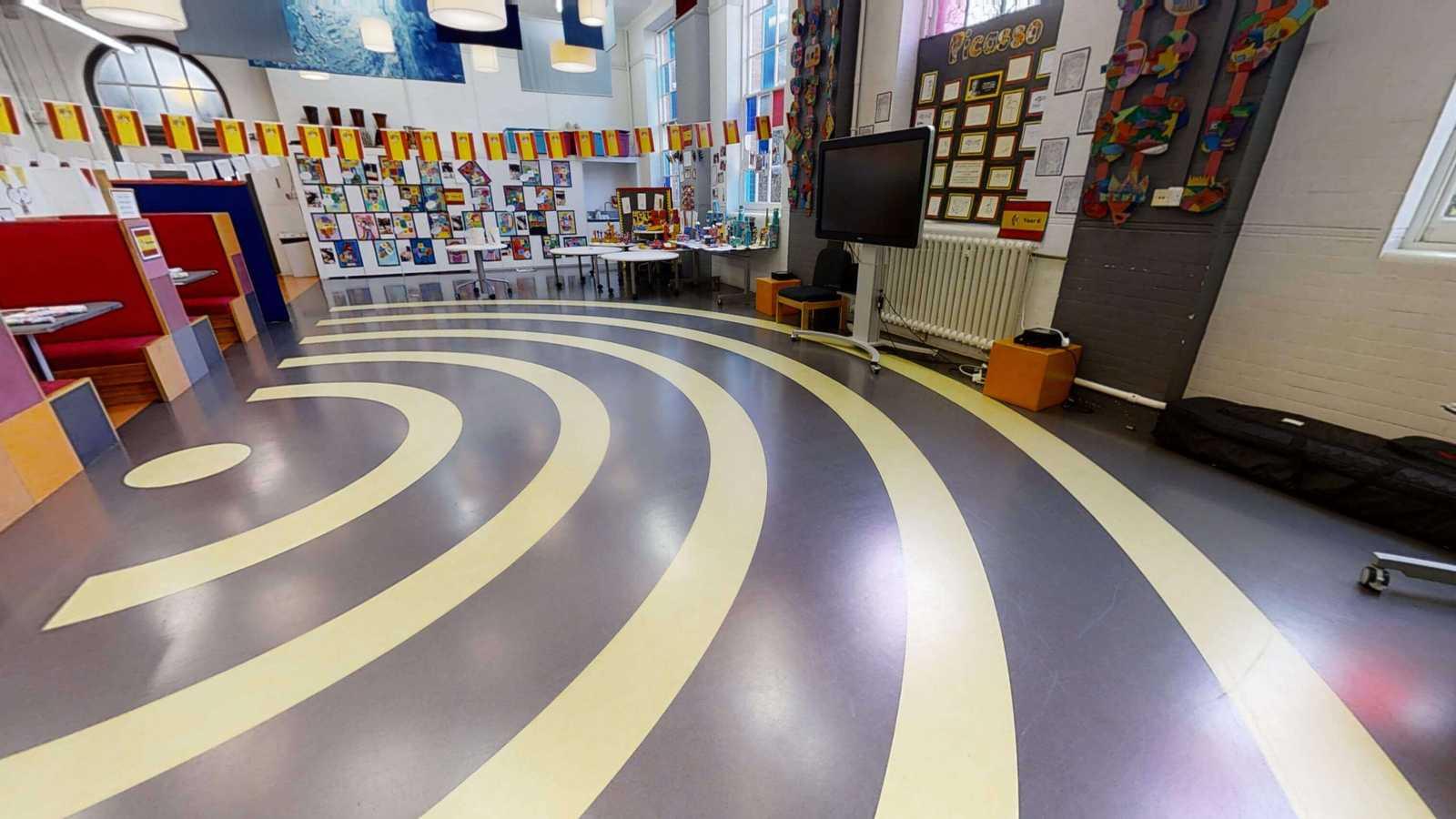 Spiral hall