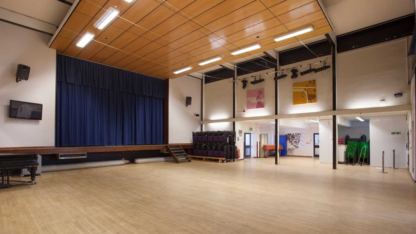 Main hall and stage