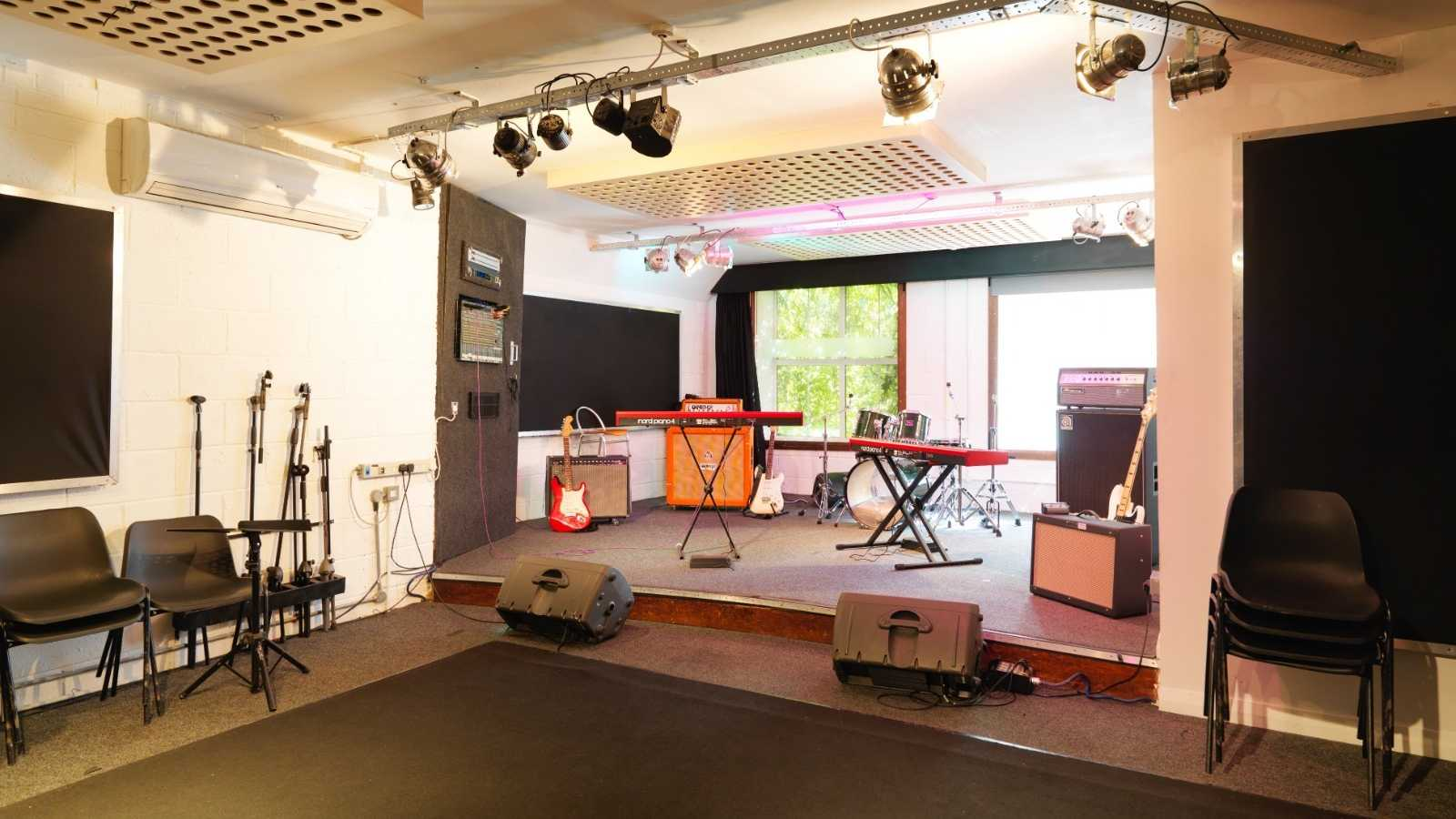 Premises studio 2 - Dry hire only (backline & pianos cost extra)