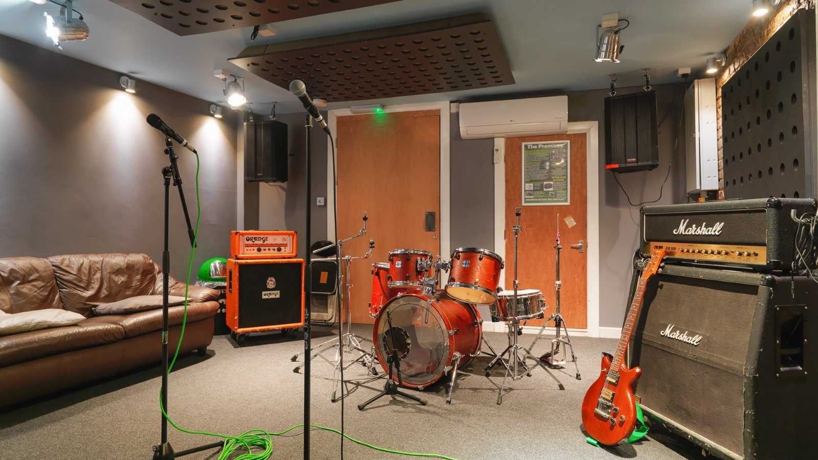 Premises studio 8 - Dry hire only (backline & pianos cost extra)