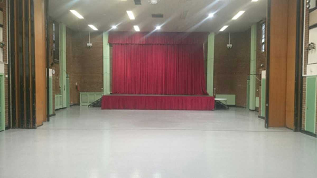 Spacious Community Centre with stage