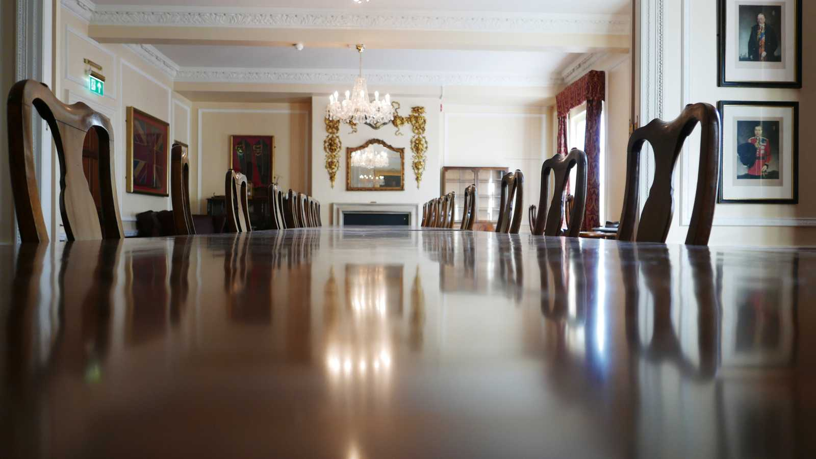 Dining Room with banquet table