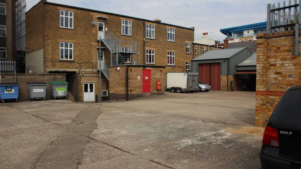 Parking lot & building exterior
