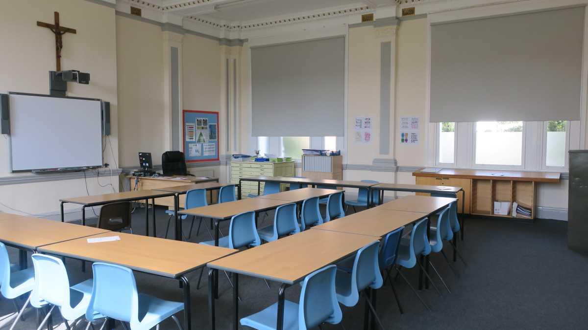 Grey classroom