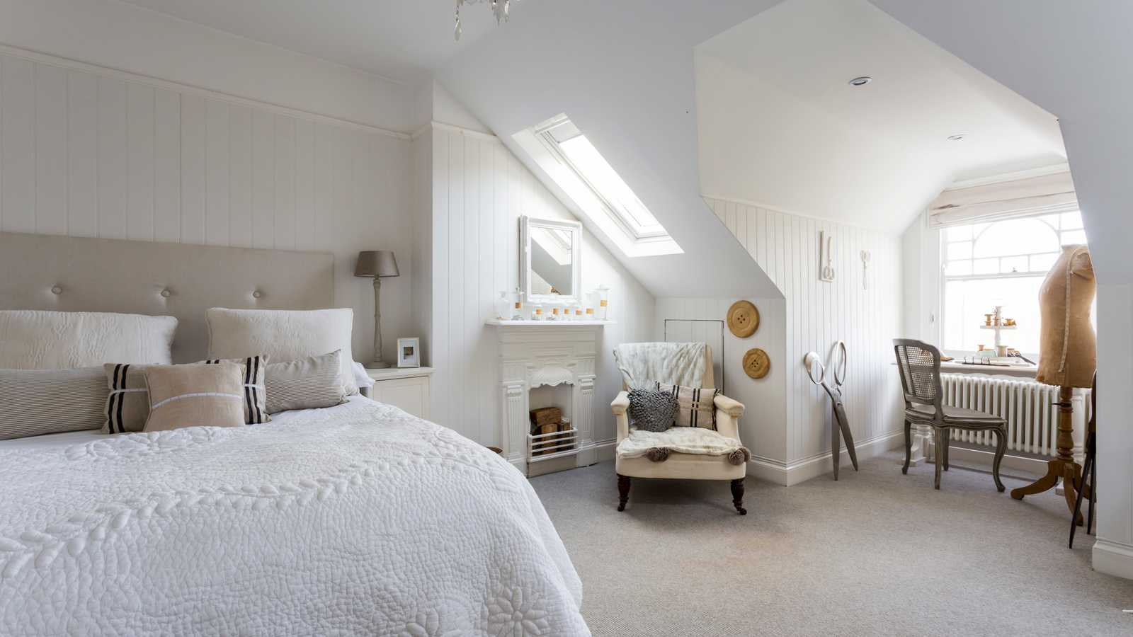 Tongue and groove bedroom