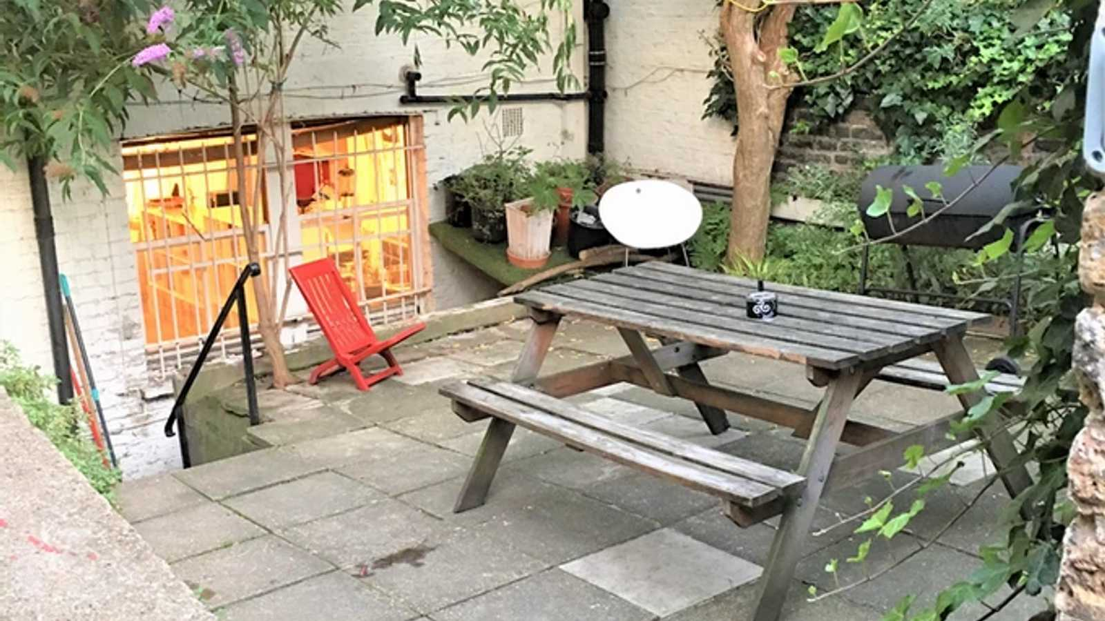 Open garden area